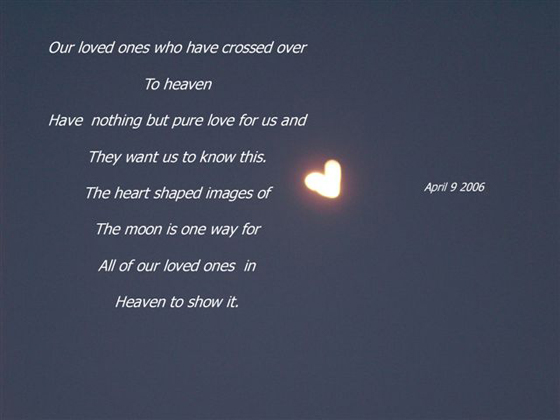 Our loved ones [heart shaped moon]