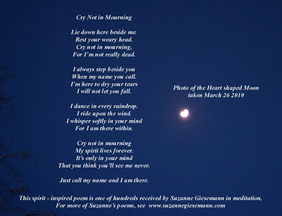 Poem received by Suzanne Giesemann in meditation. For more, see suzannegiesemann.com